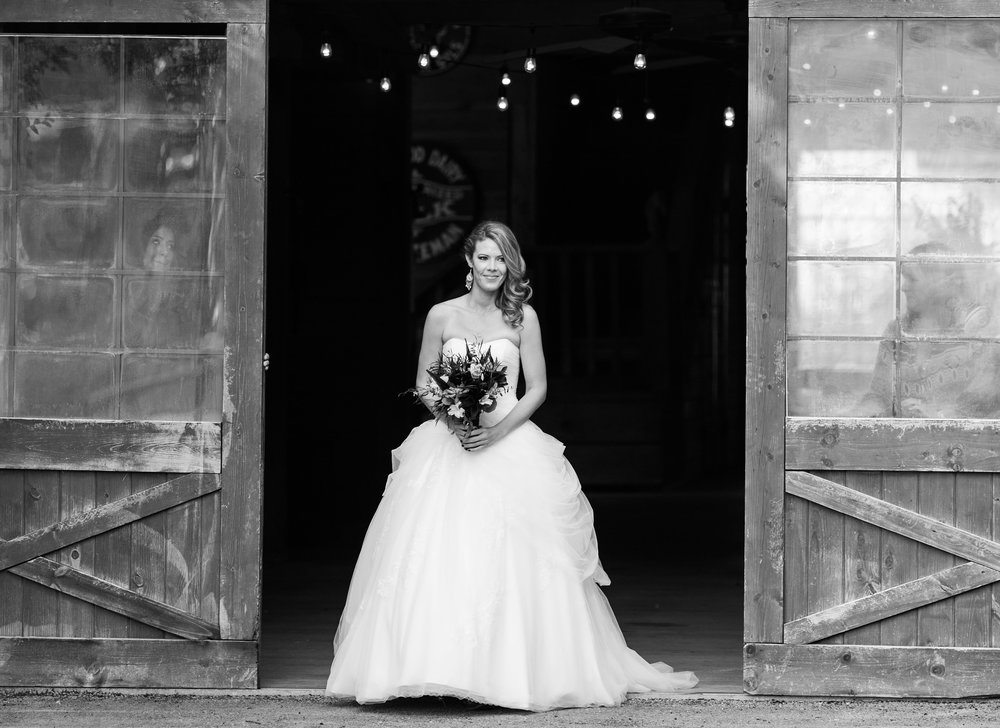 Rustic Bride Processional from Barn