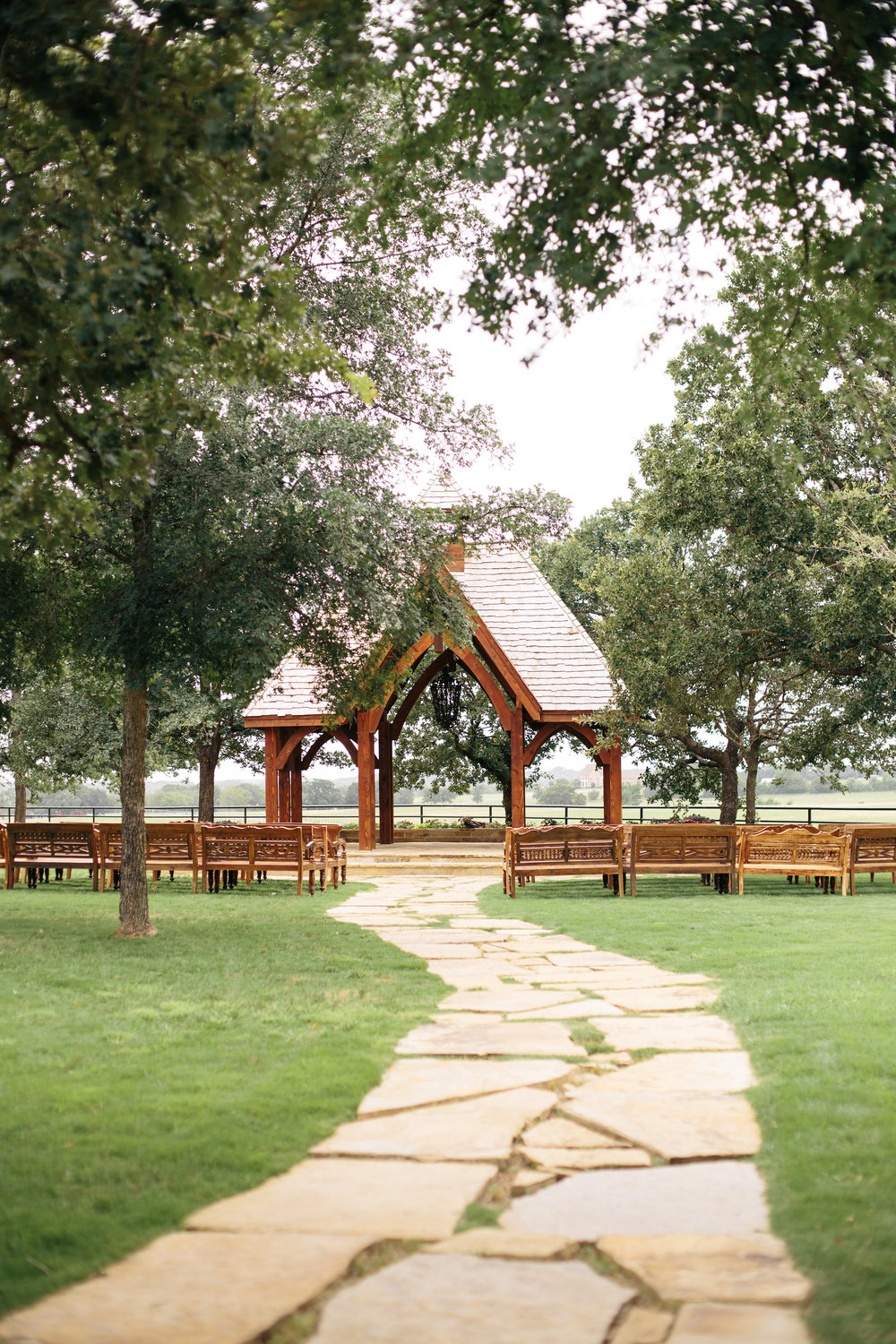 Classic Oaks Ranch Wedding Ceremony Gazebo
