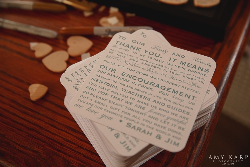 Custom Thank You Wedding Coasters