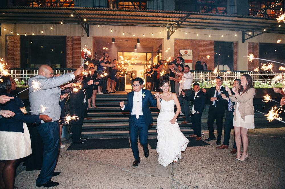 Hickory Street Annex Wedding Sparkler Exit
