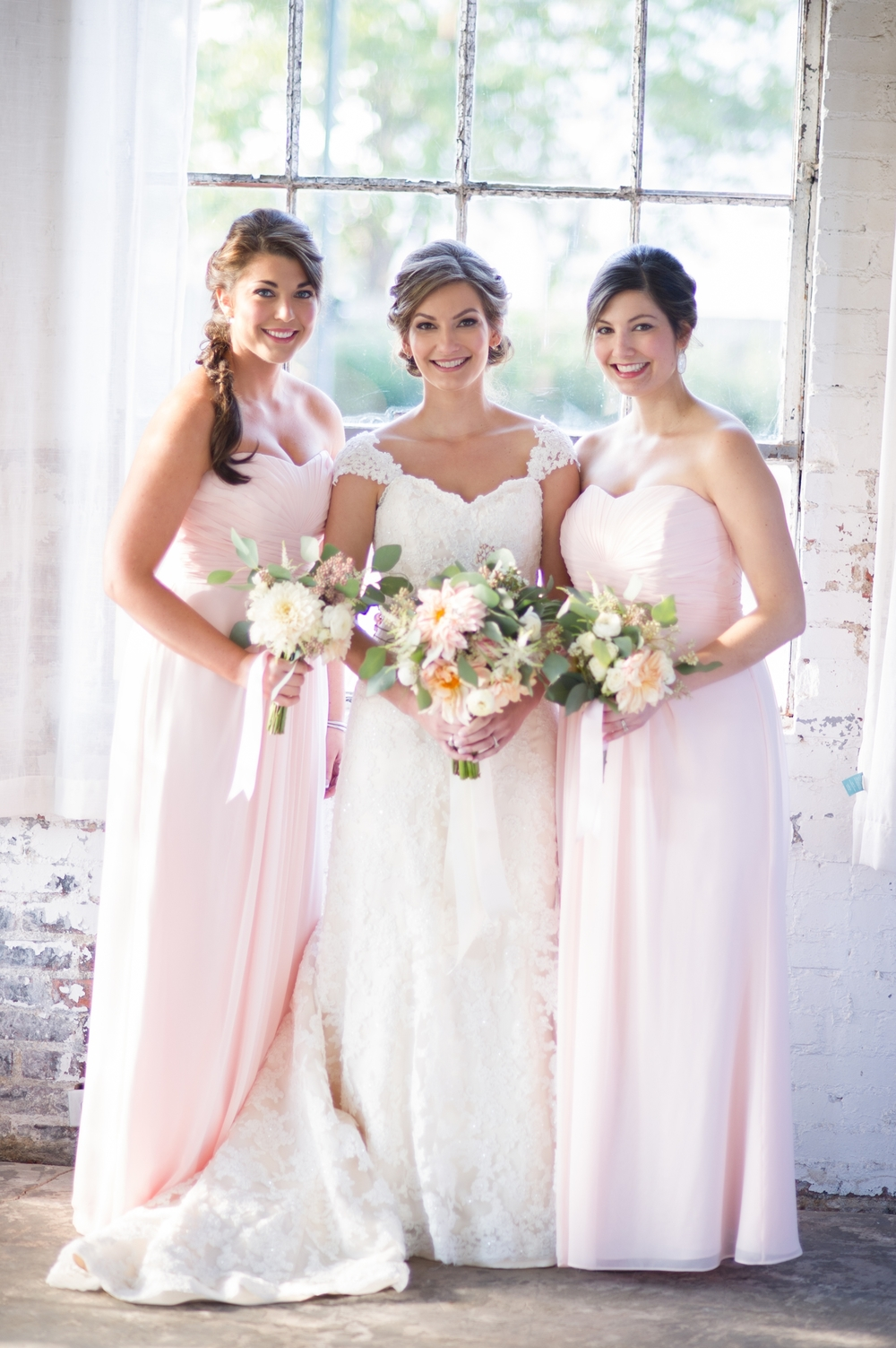 Pink Floor-length Bridesmaid Dresses