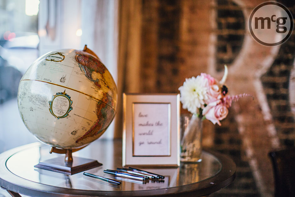Sign the Globe Wedding Guest Book