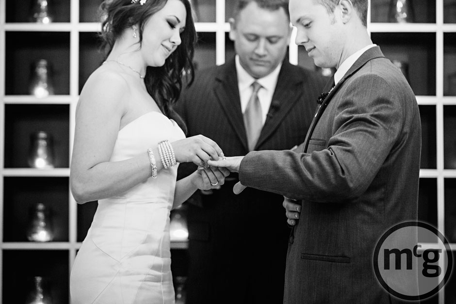 McKinney Wedding Exchanging Wedding Rings