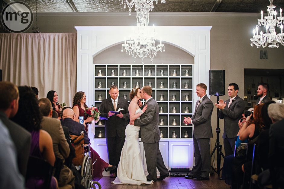 Gather in McKinney Wedding Kiss
