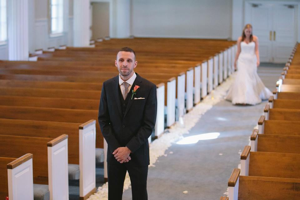 Royal Lane Baptist Church Wedding First Look