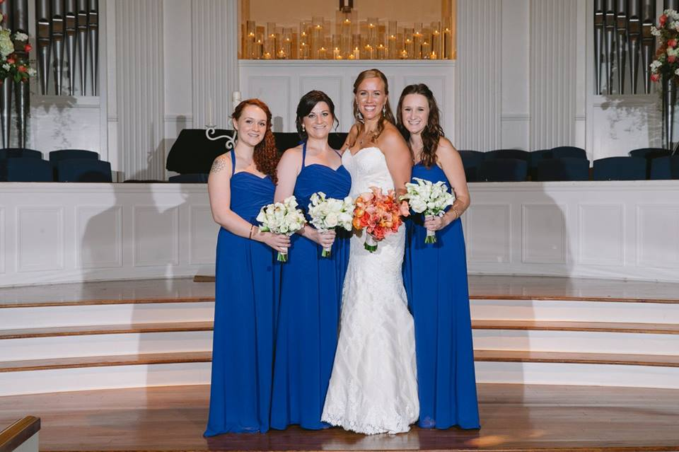 Royal Blue Floor-Length Bridesmaid Dresses