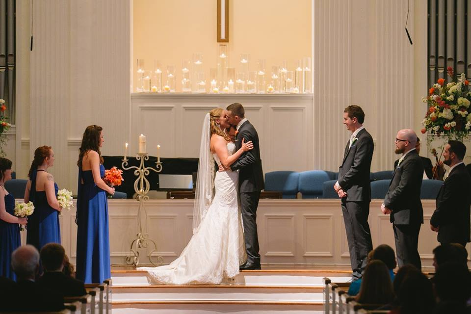 Royal Lane Baptist Church Wedding Kiss