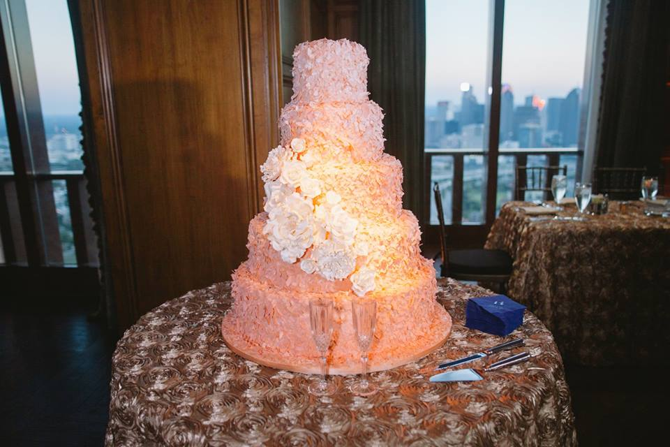 Orange Pink Ombre Cake Frosted Art