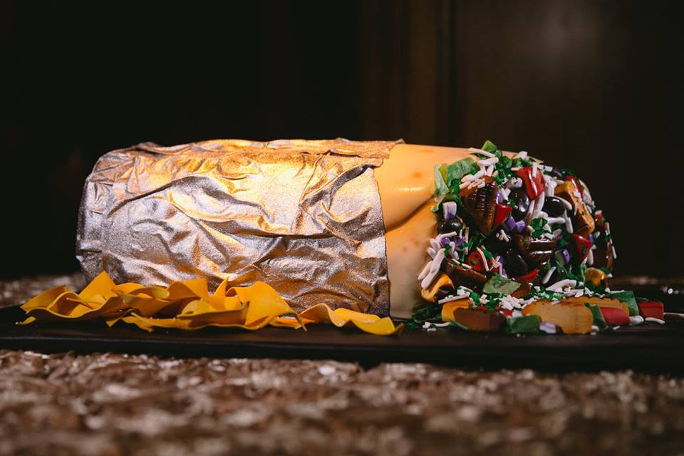 Chipotle Burrito Groom's Cake Frosted Art