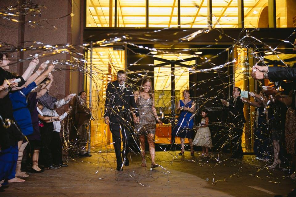 Cityplace Events Pop Streamer Wedding Grand Exit