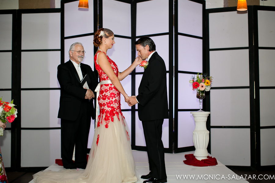Red Wedding Gown Black Suit Edisons Dallas