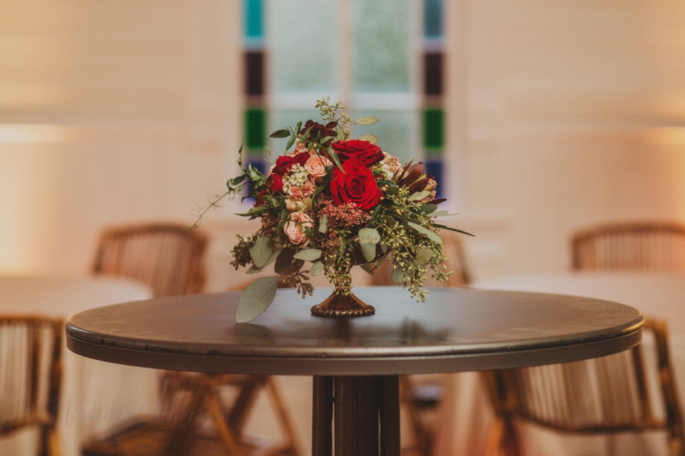 Wedding Centerpiece Marsala Peach Greenery Gold