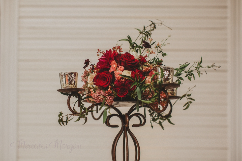 Tall Wrought Iron Candelabra Wedding Centerpiece
