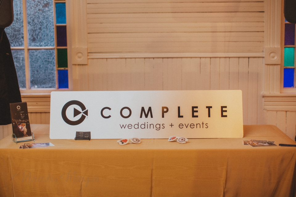 Complete Weddings sign