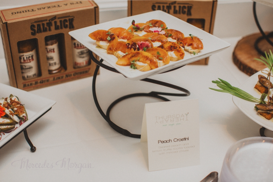 Salt Lick Catering Peach Crostini