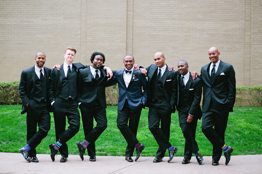 Groom & Groomsen Black tuxes