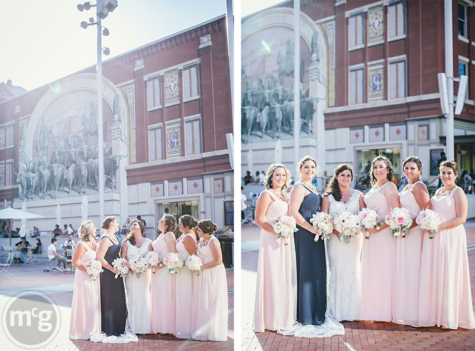 Pink Navy Bridesmaids Dresses Downtown Fort Worth