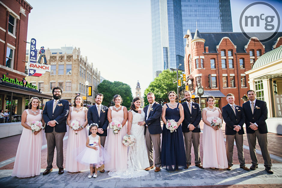 Downtown Fort Worth Wedding Party