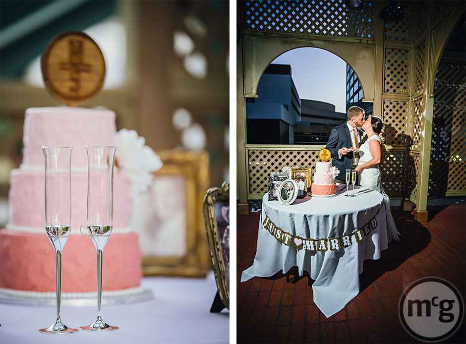 Pink Ombre Cake Wedding Brand