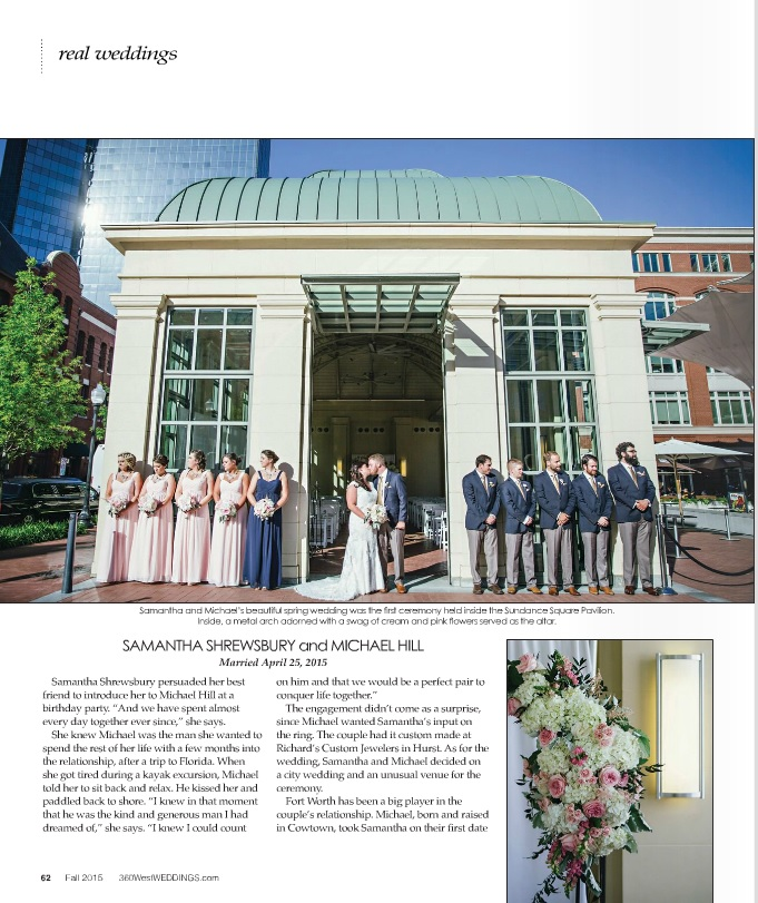Samantha and Michael's wedding in 360 West Weddings!  Photos by McGowan Images