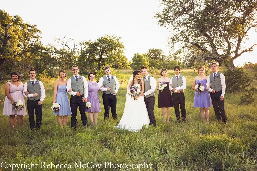 Purple Bridesmaids Vest Groomsmen