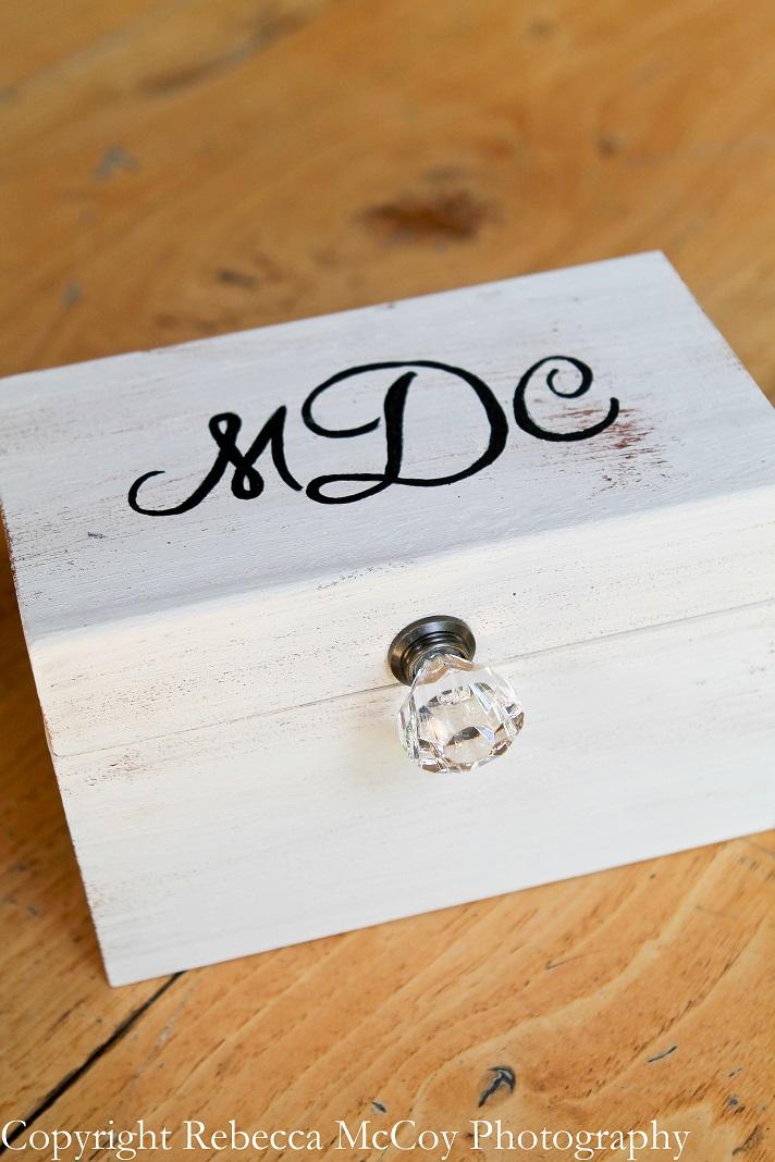 Wooden Ringbearer Monogrammed Box
