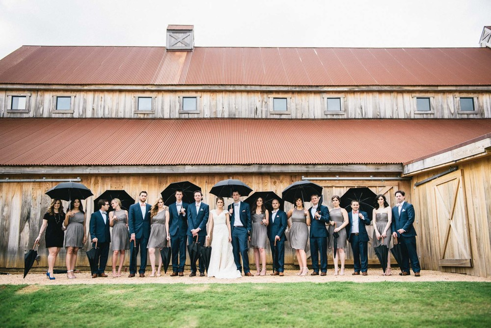 Bridal Party Gray Bridesmaids Navy Suits