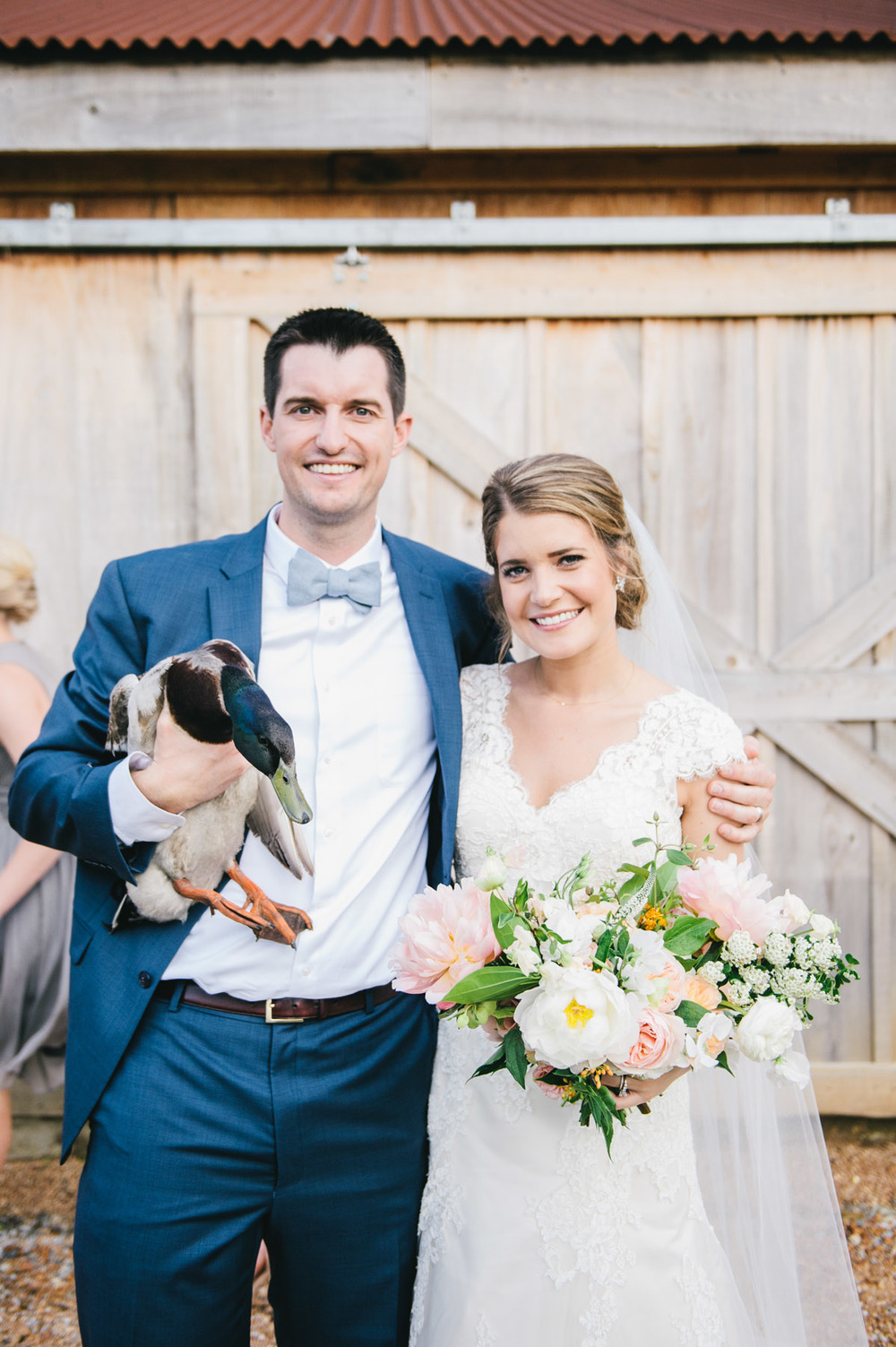 Bride Groom and Duck