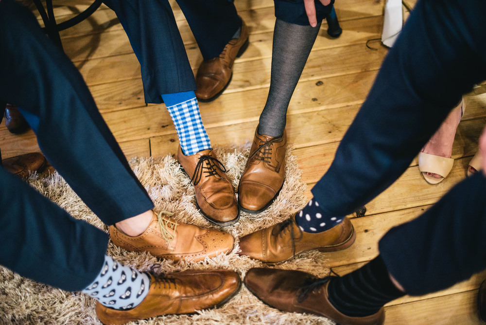 Groom and Groomsmen Funny Blue Socks