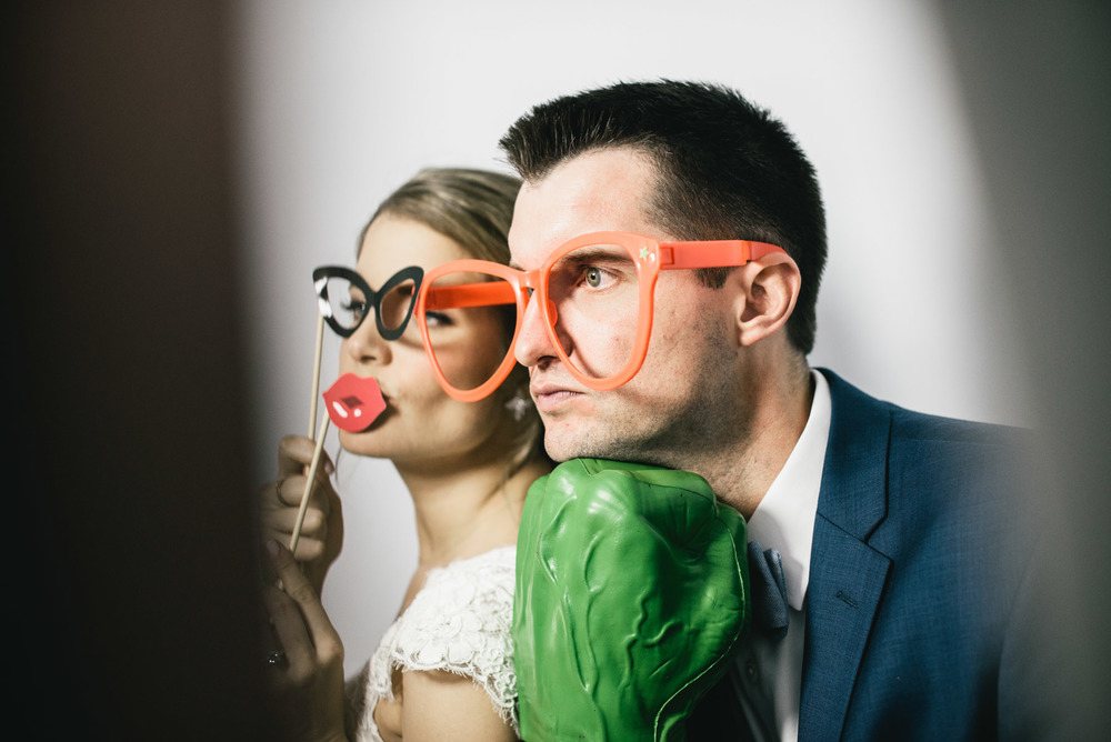 Bride & Groom Photobooth Props