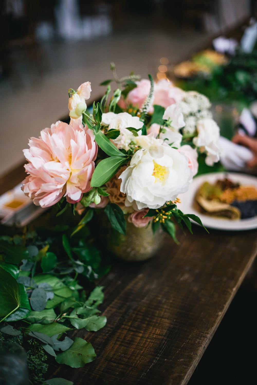 Wedding Centerpiece Gold Peach Peony White
