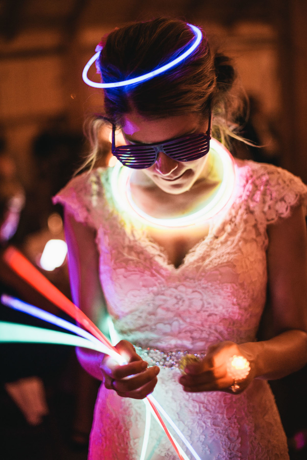 Bride Glow Necklaces Dance Floor