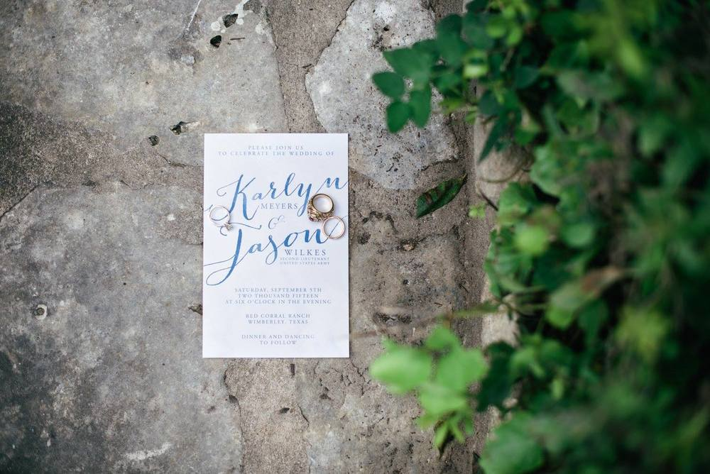 Blue & White Wedding Invitation