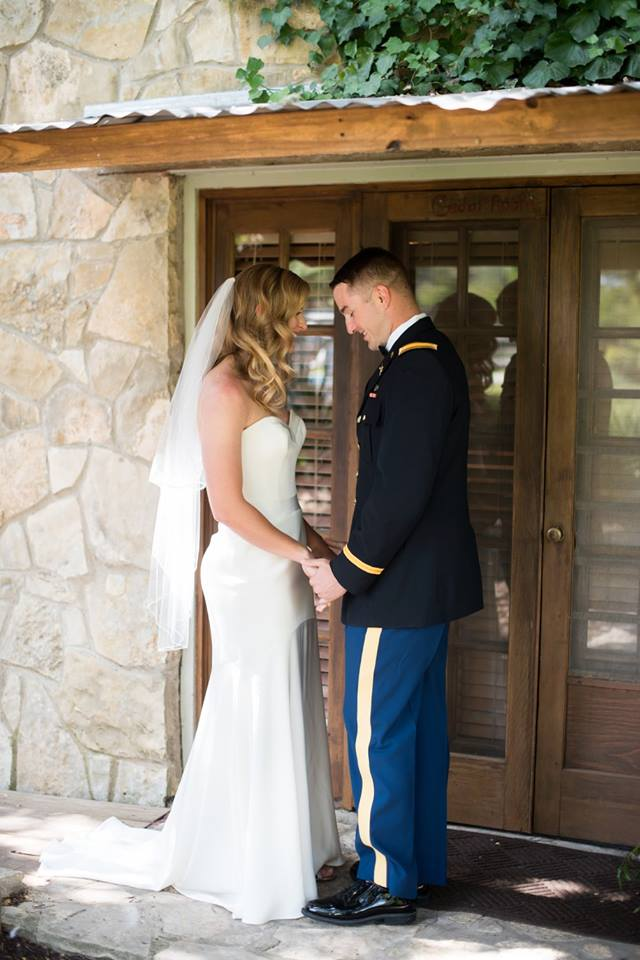 Red Corral Ranch Military Wedding First Look