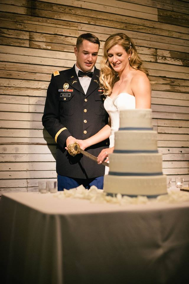Military Wedding Cake Cutting with Saber