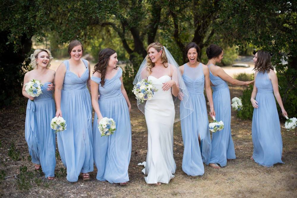 Blue bridesmaids Red Corral Ranch