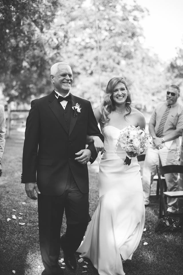 Bride & dad wedding ceremony processional