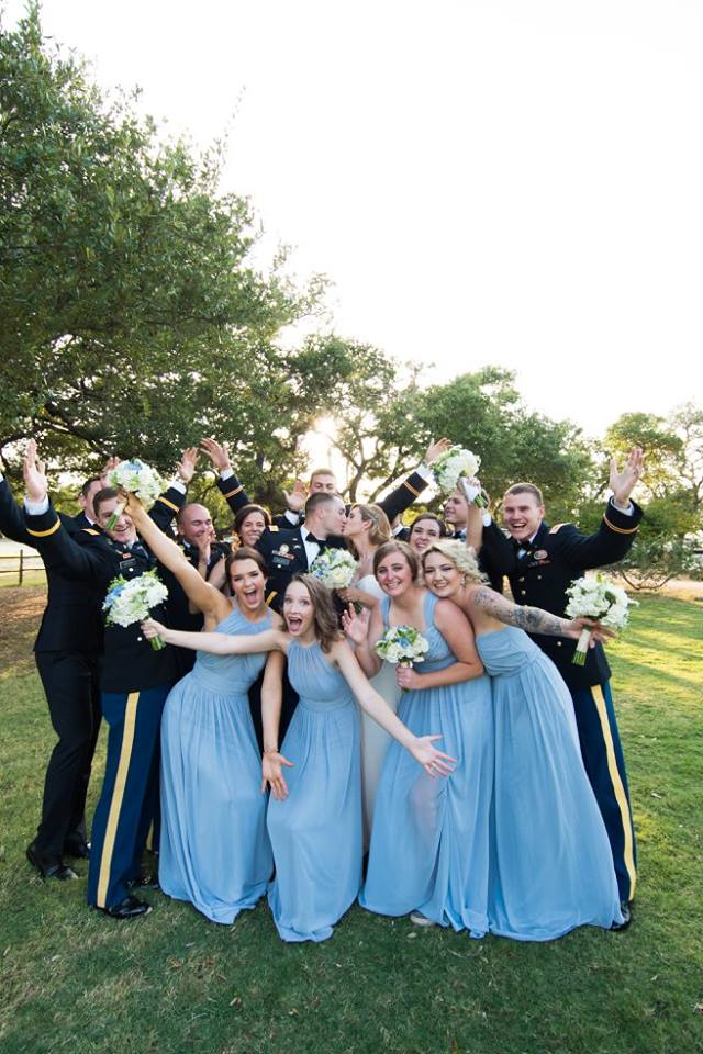Military Wedding Bridal Party