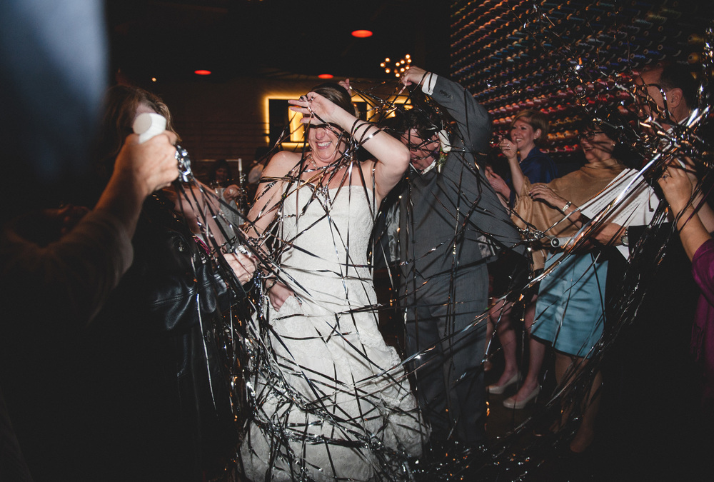 Wedding grand exit pop out streamers