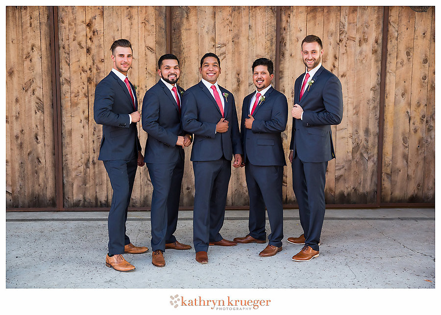 Groom and groomsmen