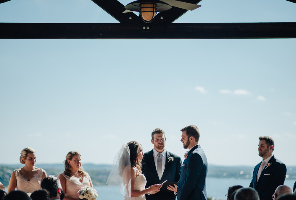 Vintage Villas pavilion wedding ceremony