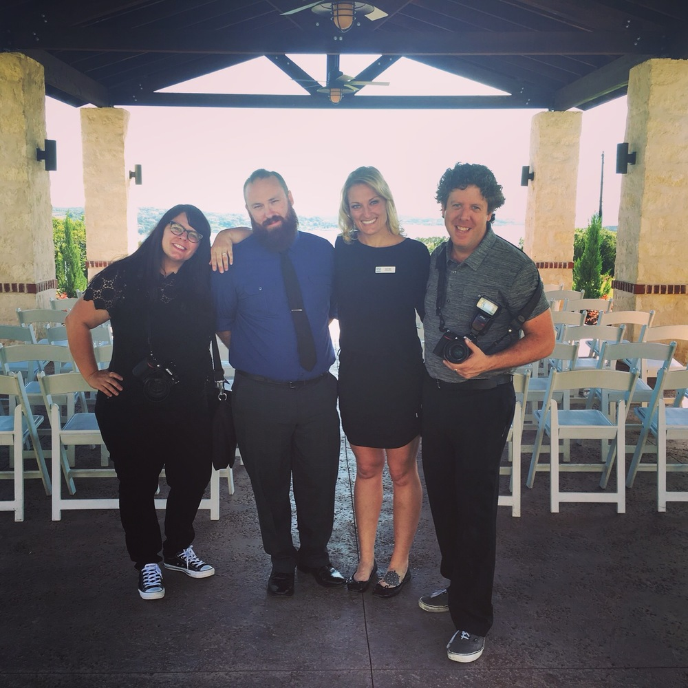 Our Dallas vendor friends who joined us for Claire and Evan's Austin wedding - Kelli and Brendan with Nine Photography, DJ Jason Esquire and our own Dallas planner, Heidi Miller!