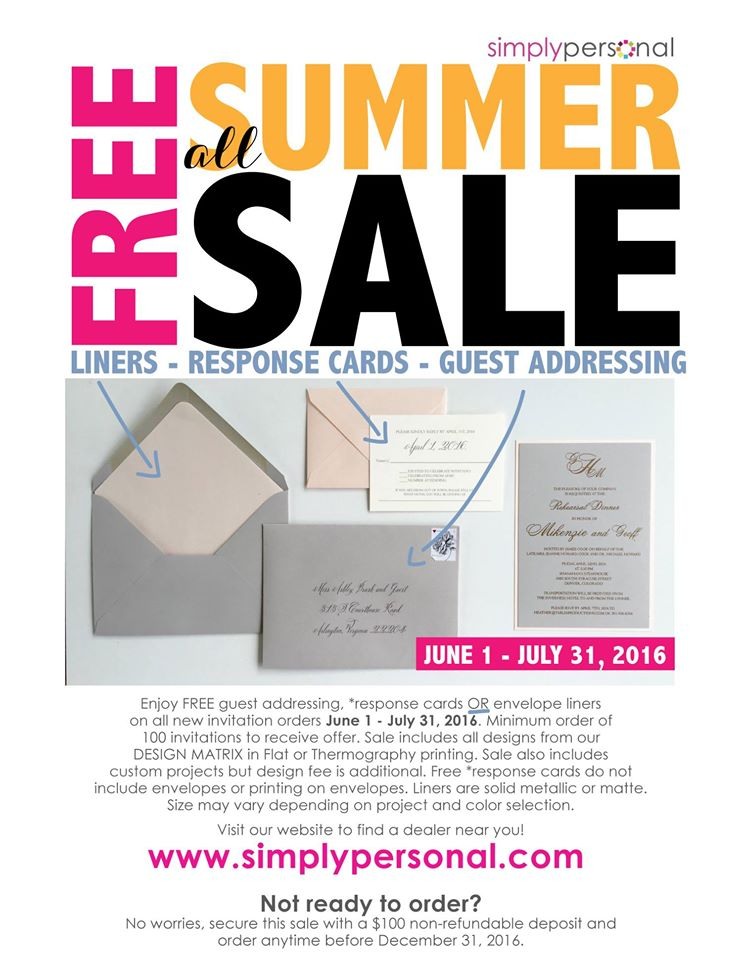 summerweddinginvitationsale