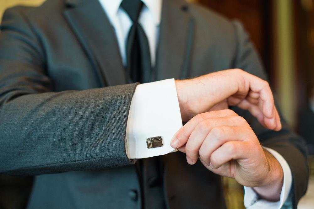 Groom's rectangle cufflinks
