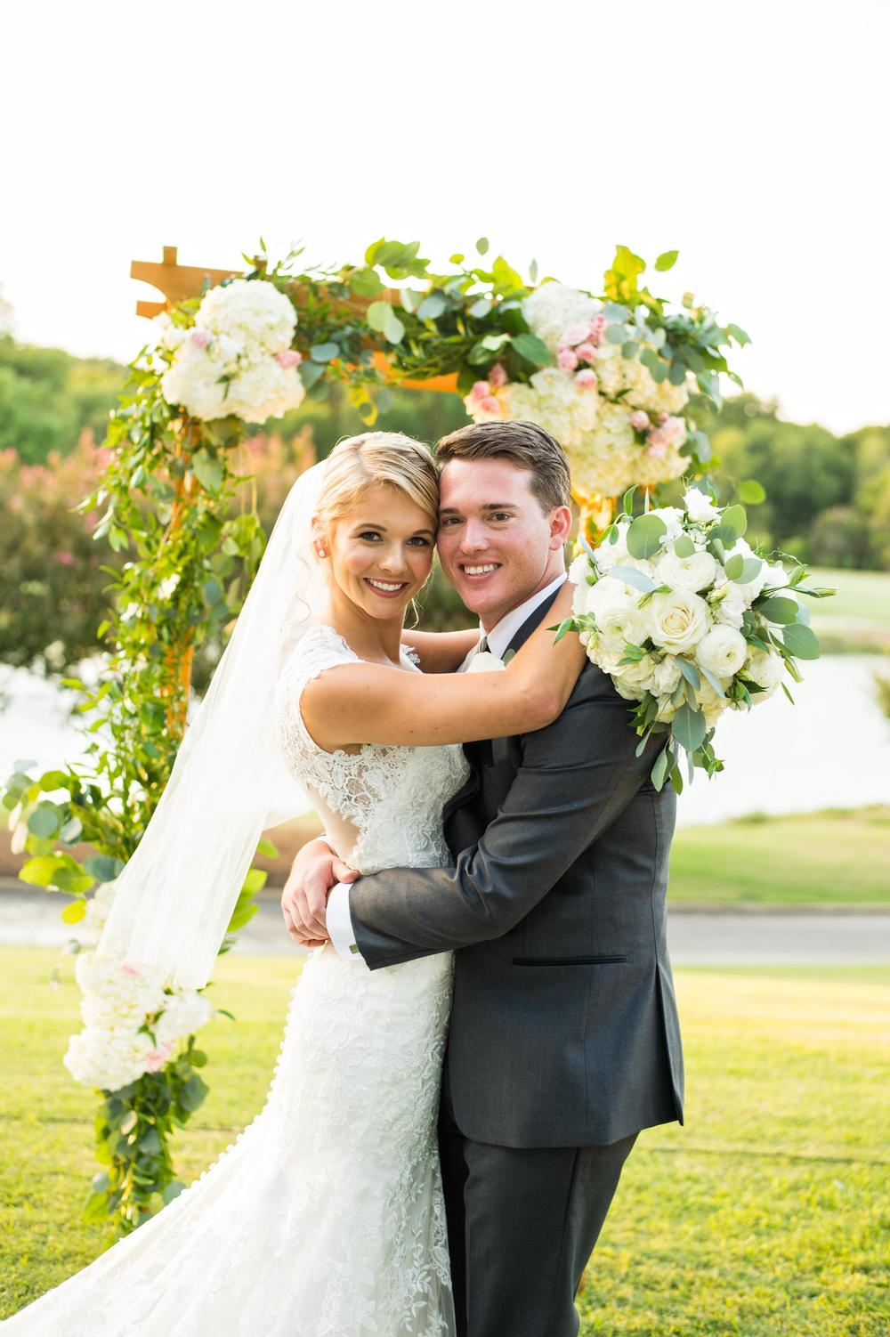 Bride & groom outdoor portrait