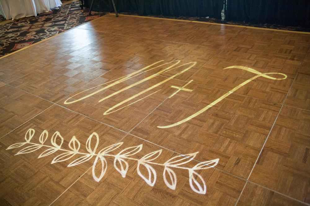 Simply Personal monogram gobo - dance floor light