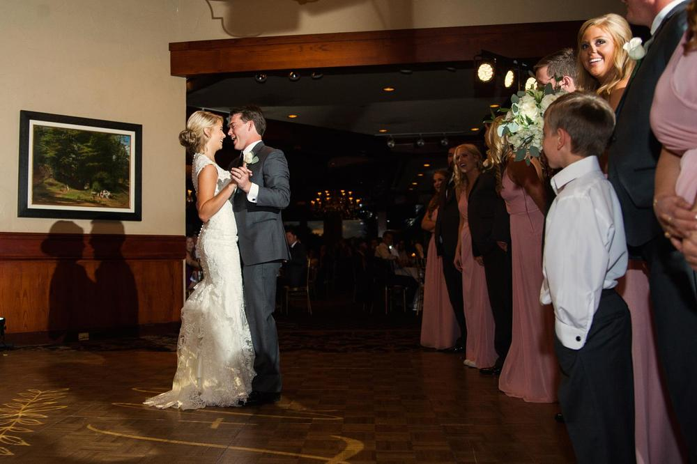 Bride & groom first dance to Blue Finger Disco Band