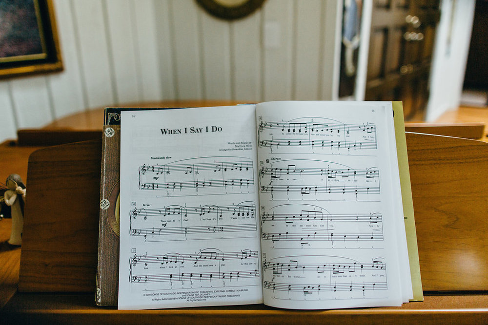 """When I Say I Do"" sheet music wedding"