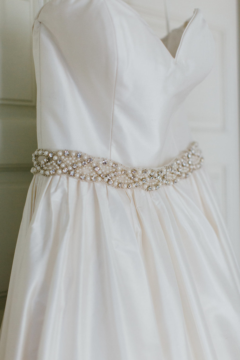Wedding ballgown crystal belt