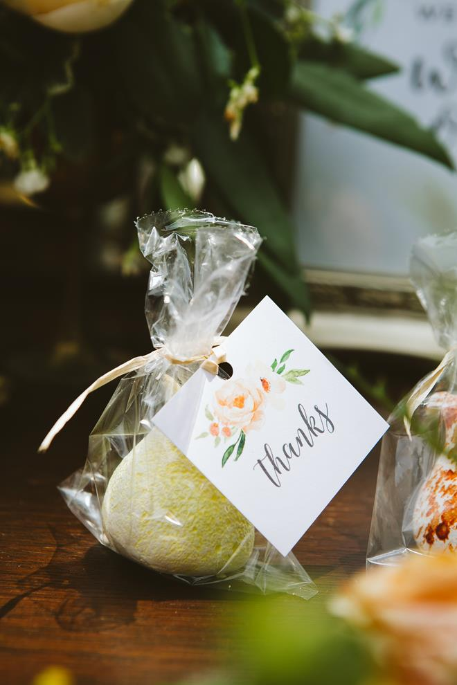 Fluff Meringues wedding favor watercolor favor tag